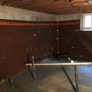 Basement waterproofing - internal