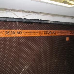 Internal basement waterproofing