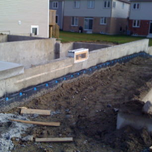 New foundation waterproofing